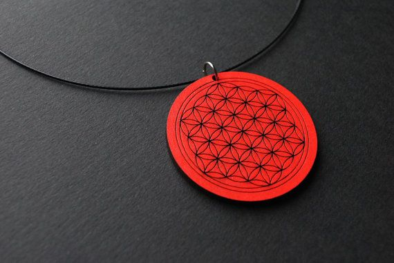 Flower of life necklace sacred geometry necklace by elfinadesign