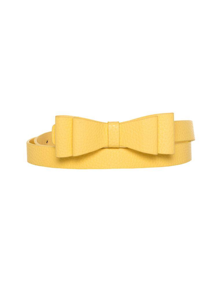 Maddie Bow Belt lemon L
