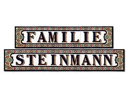 Spanische Fliesen als Türschild mit  Familienname