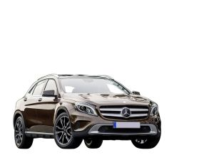 A Lifted Hatchback Car Mercedes Benz GLA Class 2015 with Orient Brown Color - Clear Transparent PNG Images - clearPNG