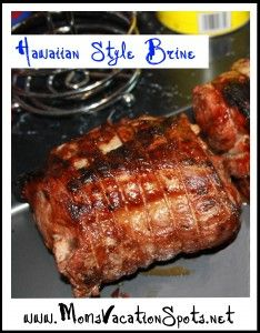 Hawaiian-Style Brine Recipe. So good! Great for Pork, Chicken or Fish! Super easy to put together.
