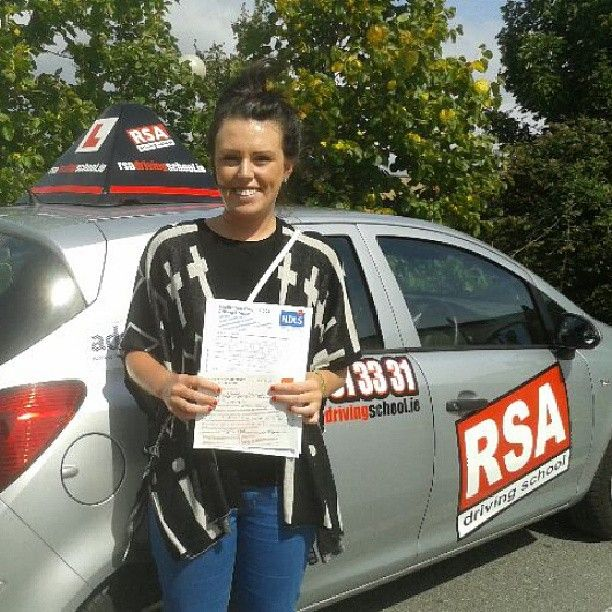 Well done Niamh who passed at Rathgar test centre with RSA Driving School. Another pass for our instructor Colman also. http://www.rsadrivingschool.ie