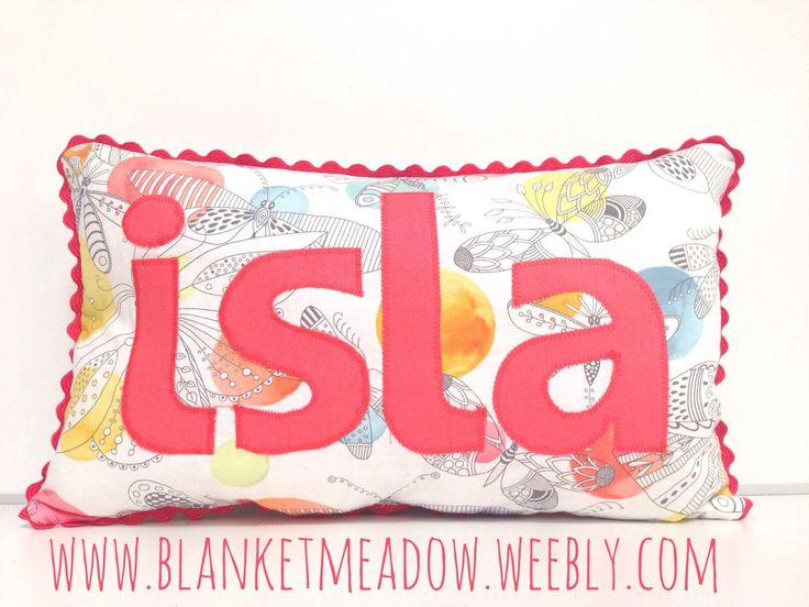 Bespoke and Personalised name cushion - so sweet! Such a lovely gift for a new baby!