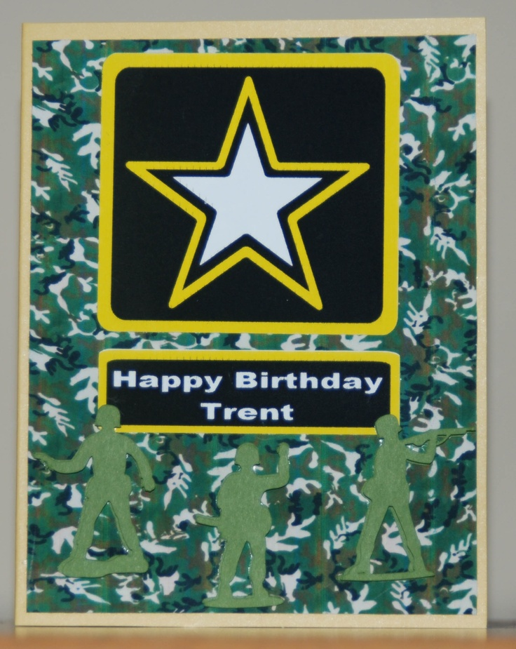 17 Best images about birthday cards – Army Birthday Cards
