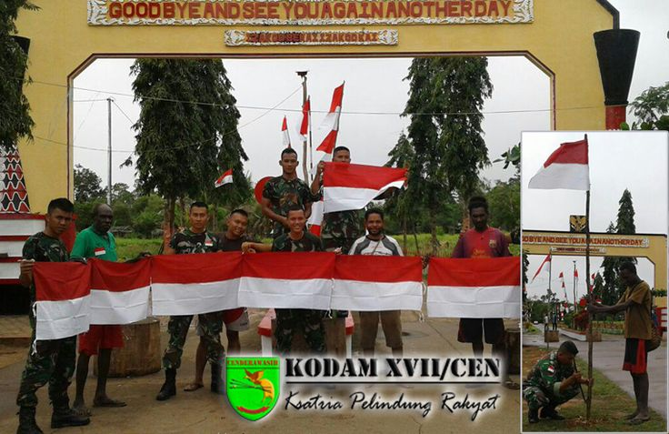 Gemerlapnya Merah Putih di Perbatasan Jelang HUT Ke-71 RI | Website Resmi Kodam XVII Cenderawasih Papua