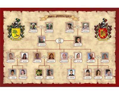 Arbol Genealogico Mixto - Diseño en Forma Lineal