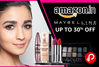 Amazon is offering Upto 30% off on Maybelline New York Products. Including Bath & Body, Make-up & Nails, Skin Care, Tools & Accessories.  http://www.paisebachaoindia.com/maybelline-new-york-upto-30-off-amazon/