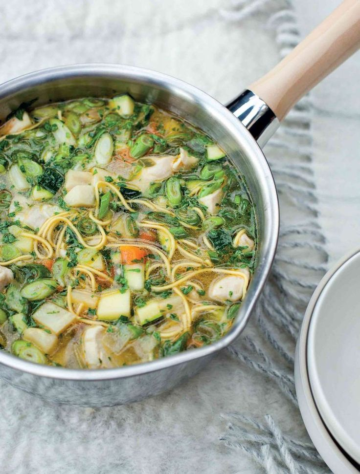 Chicken and winter vegetable broth from Kitchin Suppers from Tom Kitchin | Cooked.com