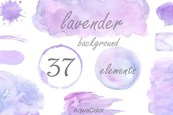 Lavender background clipart by AqwaColor on @creativemarket