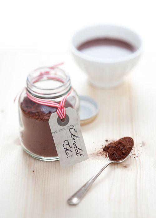 chai hot chocolate in a jar...by cavoletto di bruxelles