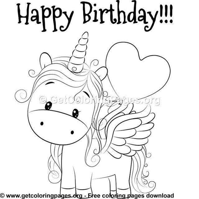 Free Coloring Pages | Unicorn coloring pages, Happy ...