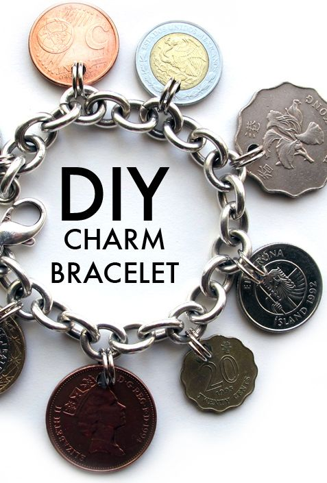 DIY charm bracelet, DIY on What I Wore, Coin bracelet, How to make a coin bracelet, WIW DIY, Jessica Quirk, What I Wore, Style Blog