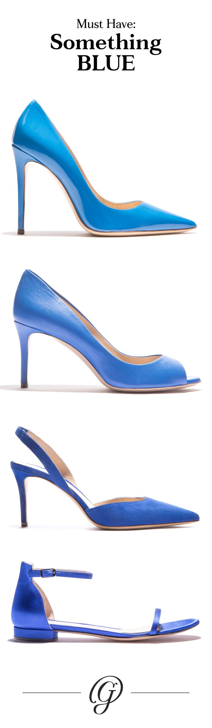 """I do. I do. I do. I do (want limited-edition Italian shoes for the big day). These handcrafted beauties solved the """"Something Blue"""" for summer weddings and lend all our whites a colorful touch long after the big day."""