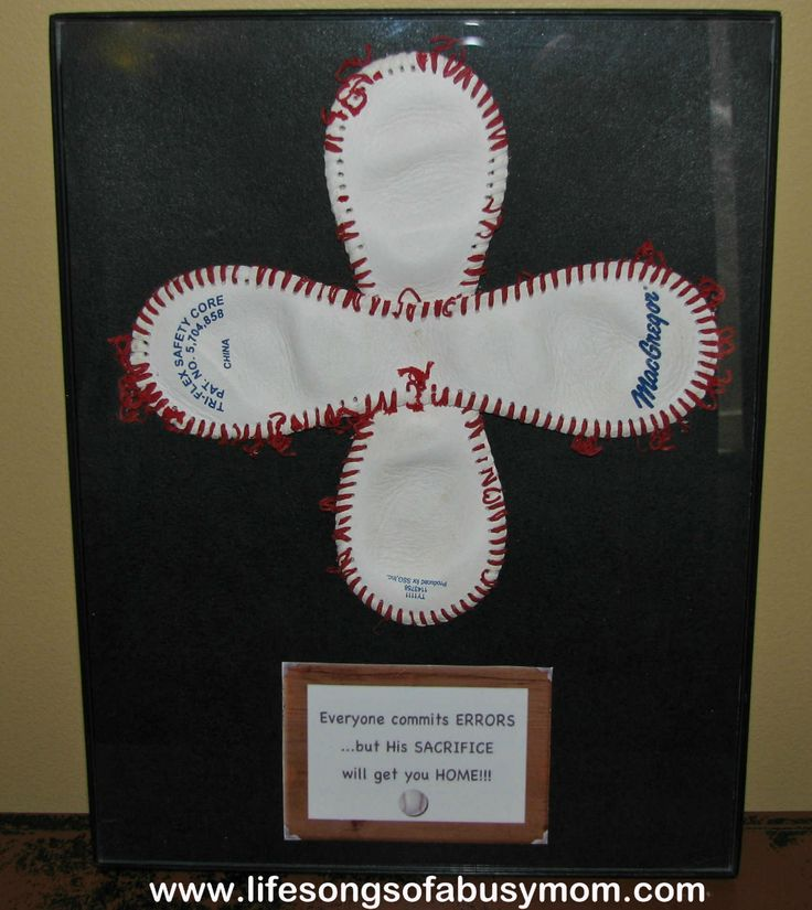 Life Songs Of A Busy Mom: Baseball Cross Wall Hanging