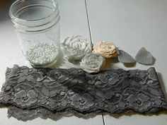 DIY garter with step-by step guide.  Total cost:  A little over 4 dollars (and 1 hr. of crafting!)