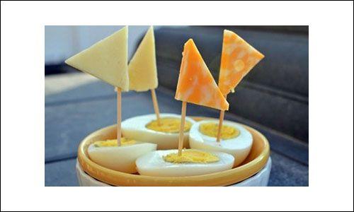 Healthy Kids Snacks - Egg Boats