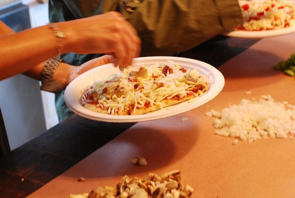 make-your-own-pizza party
