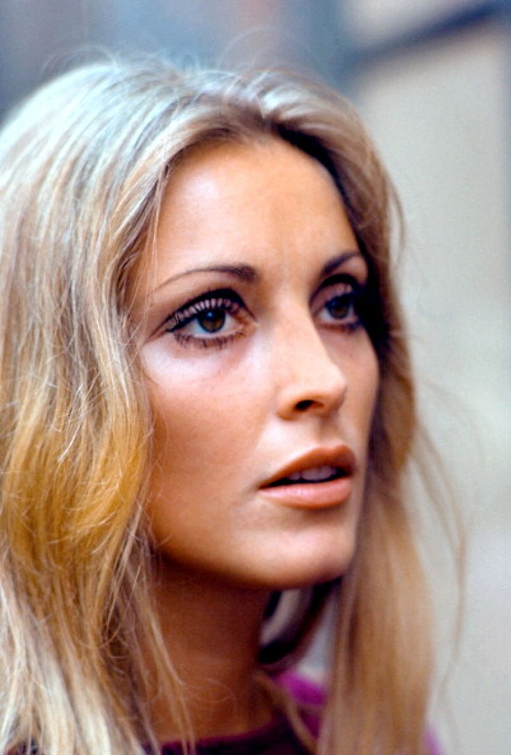 Sharon Tate visiting the set of Rosemary's Baby in New York, 1967.