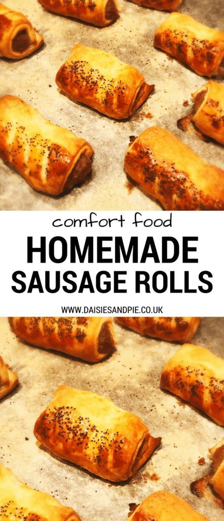 Homemade sausage rolls - perfect for adding to a festive buffet spread and this recipe is super easy!