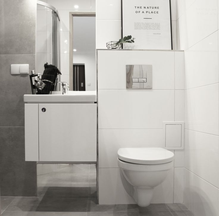 FOORMA Pracownia Architektury Wnętrz white bathroom concrete