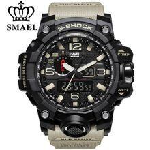SMAEL Бренд Двойной Дисплей Наручные Часы Военные Кварцевые Часы Мужской Подарков S Шок мужские Спортивные Часы для Мужчин Часы relogio //Цена: $11 руб. & Бесплатная доставка //  #gadgets #ноутбуки