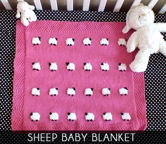 Sheep Baby Blanket Sister crafts, Sheep and Baby knitting patterns