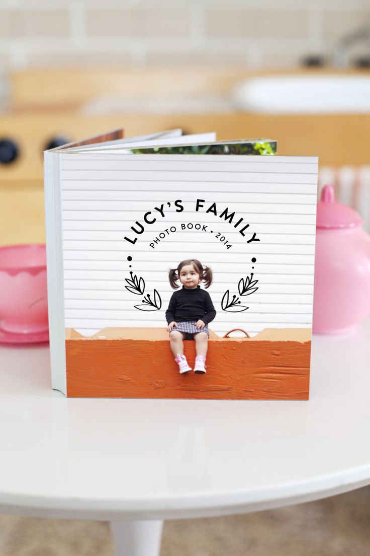 How to easily make a children's board book- perfect for learning family names…