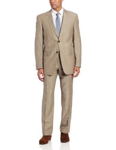Tommy Hilfiger Men's 2 Button Side Vent Suit With Flat Front Pant, Tan Stripe, 40 Long Tommy Hilfiger http://www.amazon.com/dp/B00AYQEC0E/ref=cm_sw_r_pi_dp_8DGgvb1R73MWP