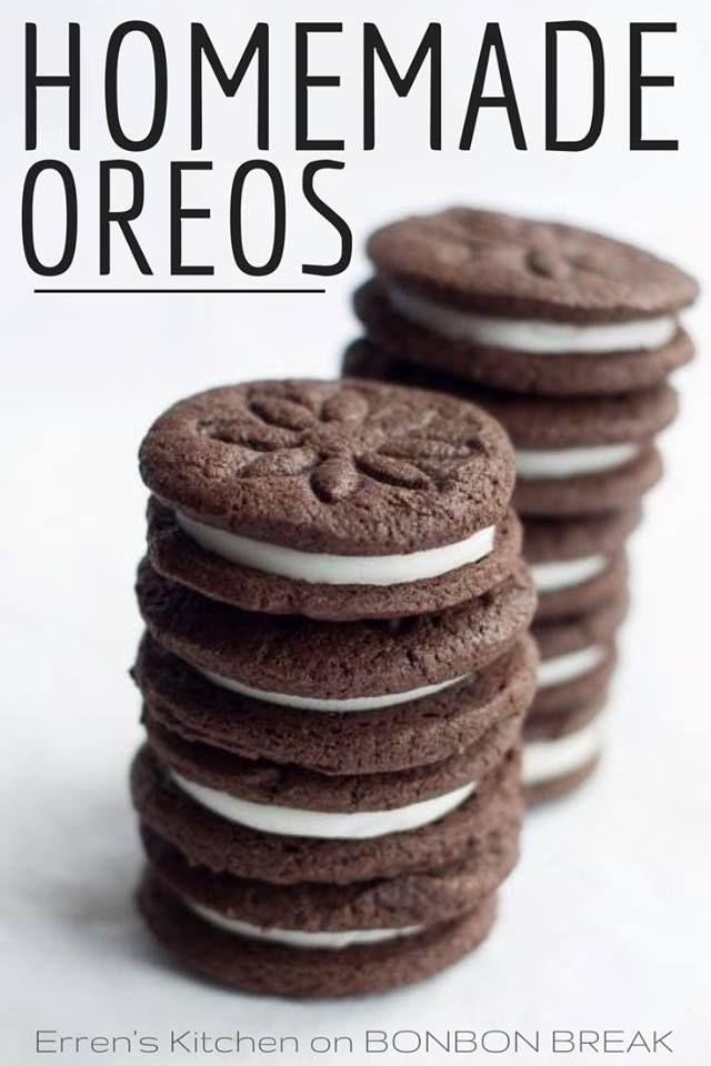 Homemade Oreo Cookies recipe from @Erren Baker Hart {Erren's Kitchen} via @Bonnie Korling Break