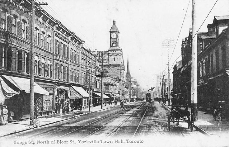 Yonge Street north of Bloor Street (Yorkville), Toronto, Ontario ca. 1908
