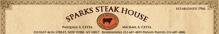 Sparks Steak House – Greatest Steakhouse in Manhattan, Best Steak House in New York City. Established 1966