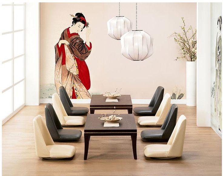 Ergonomic Floor Chair Japanese Style Legless Low Asian Chair Tatami Meditation #Asian