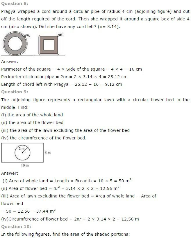 Ncert Solutions For Class 7th Maths Chapter 11 All Q A Maths