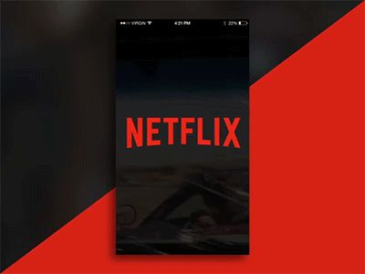 Daily UI #1 - Netflix   Login Page (Animation) by Chidozie Acey