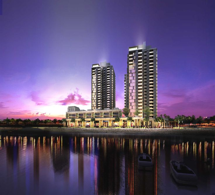 Crescent Bay  Karachi, Pakistan www.dwp.com  Two residential towers of 23 and 18 levels are set upon a retail podium, all beach side.