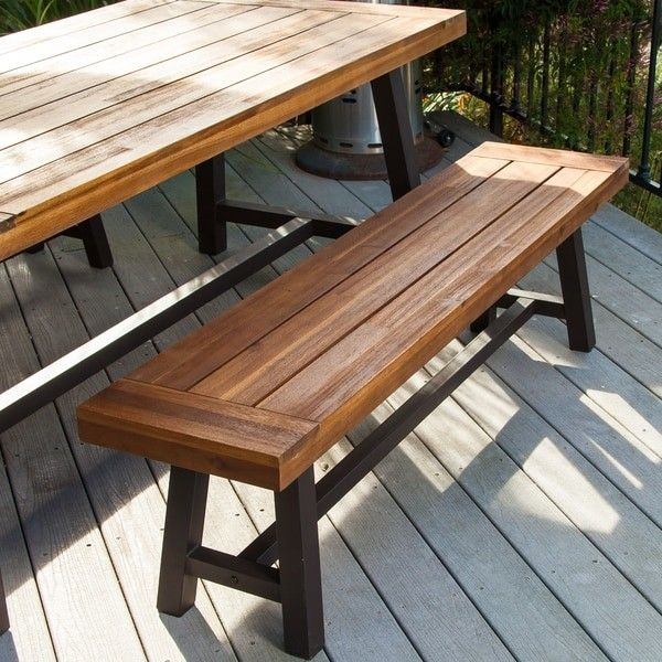 Rustic Outdoor Dining Table Bench Outdoor Dining Furniture Set Garden Table Patio Porch Yard New