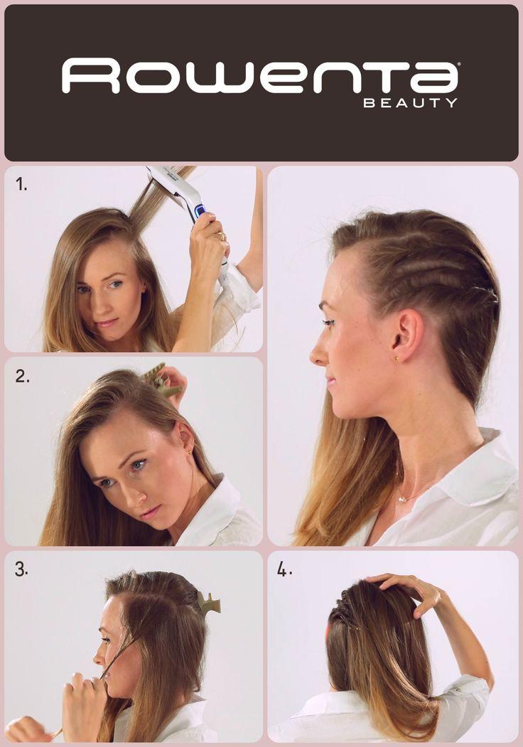 Pozorne wygolenie boku  Krok 1. Unieś włosy od nasady przy pomocy VOLUM'24 Krok 2.  Zrób skośny przedziałek i większą część włosów podepnij spinką Krok 3.  Zaczynając przy skroni, zakręć 2 ślimaki- jeden nad drugim i podepnij Krok 4.  Rozpuść resztę włosów tak, aby zakryły podpięcie ślimaków #Respectissim #Rowenta #RowentaPolska #fryzura #włosy #hair #hairstyle #hotd #wlosomaniaczka #hairmania #hairgoals #haircolor #curls #waves #straightner #volum #wavy #straight #easy #tutorial #stepbystep