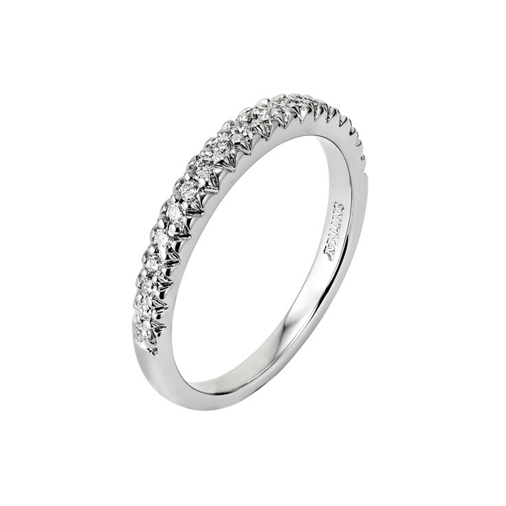 14kt White Gold H SI Ladies Wedding Band From The Luminaire Collection By