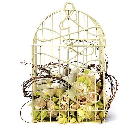 Add the perfect touch to your wedding reception with this decorative birdcage! May be used for several themes including vintage and love bird.