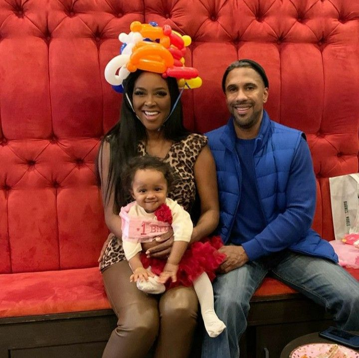 Hollywood Actress Model And Entrepreneur Kenya Moore Daly And Her Husband Marc Daly Celebrated Their Dau Kenya Moore Housewives Of Atlanta Real Housewives