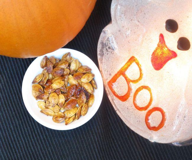 Healthy Halloween Treat - Roasted Pumpkin Seeds | Pumpkins ...