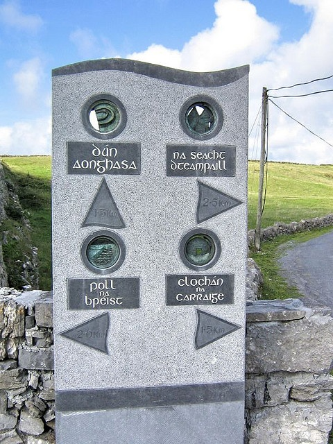 Inishmore - Kilmurvy Roadsign by hippydream [is busy], via Flickr