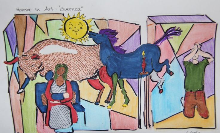 "Feeney's Art Studio en Twitter: ""the #art of #humor project - #guernica #popart #marker #summerschool #bvsd #bvsdonline #studentart #drawing and #painting class https://t.co/H2csuK7iA7"""