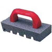 """Norton Crystolon Fluted Hand Rubbing Brick with Handle, 8"""" Length x 3-1/2"""" Width x 1-1/2"""" Height (Pack of 5) by Norton. $29.30. The Norton fluted hand rubbing brick is made of silicon carbide (Crystolon) and has a fluted surface and a handle for use in masonry and stonework applications, such as smoothing concrete and removing mold marks. The fluted surface has diagonal grooves with sharp edges for debris removal and clean shearing action. Silicon carbide is a ..."""