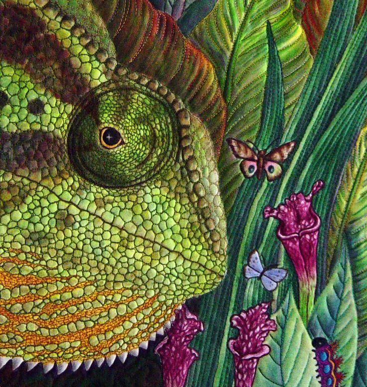 Chameleon detail in a quilt!?