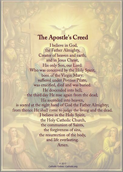 Prayers - The Apostles Creed by Catholic Shopping .com | Catholic Shopping .com FREE Digital Download PDF