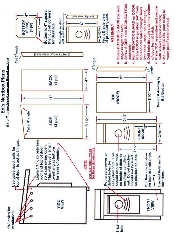 0581e96f91425a908ad2ce1b29ac12a2  bluebirds bluebird house plans
