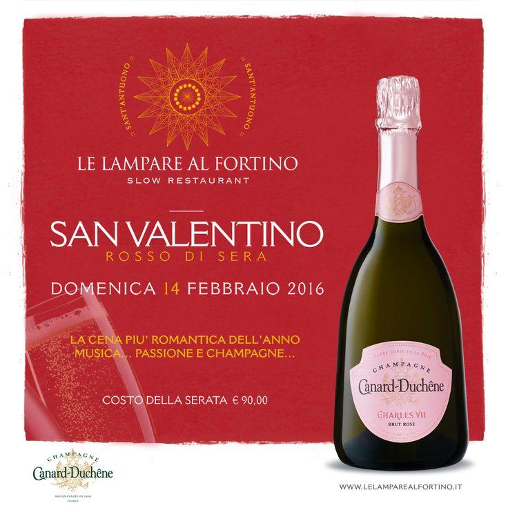 SAN VALENTINO - ROSSO DI SERA La Cena più Romantica dell'Anno Musica....Passione e Champagne Canard-Duchêne France ♥  https://www.facebook.com/events/1637608653157696/ CENA € 90,00 A PERSONA INFO & PRENOTAZIONI 0883 480308  #sanvalentino #class #love #wine #food #photo #comment #direct #drink #eat #delicious #amazing #trani #Top #apulia #italy #lelamparealfortino #slowrestaurant #14febbraio2016