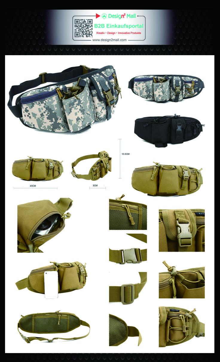 Tactical pouch mountaineering backpack Multifunction kettle waist bag(search for cam-02-002-en in store) Outdoor Gürteltasche Bauchtasche Hüfttasche Bag Street Sport Jogging Angeltasche