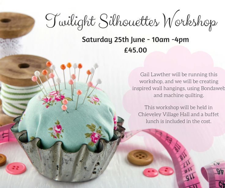 Twilight Silhouettes Workshop at #Juberry - Saturday 25th June - 10am - 4pm! Will you be there? #sewing